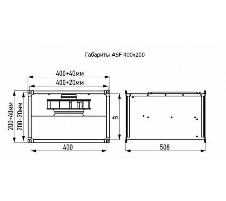 Канальный вентилятор ABF ASF 400x200